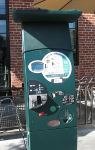city parking credit machine