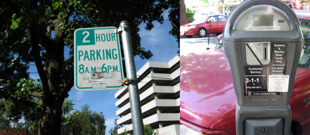 2 Hour Parking Sign And Meter