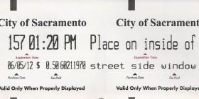 Parking meter receipt. Photo: Steve Topper.