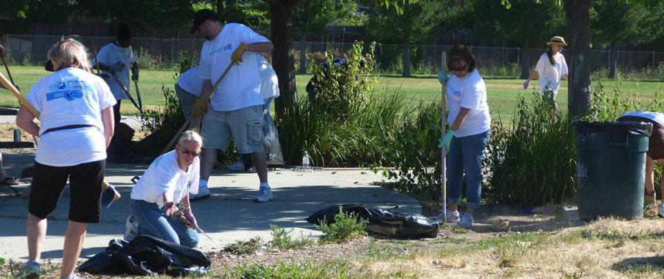 city of sacramento volunteers hard at work